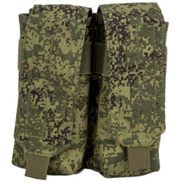 Jagun Tactical Airsoft MOLLE Double Magazine Pouch - DIGITAL FLORA