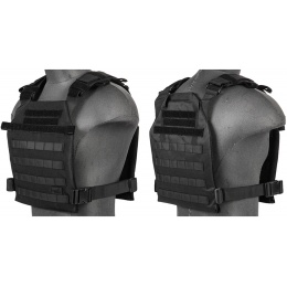 Lancer Tactical Polyester QR Lightweight Plate Carrier [Nylon] - BLACK