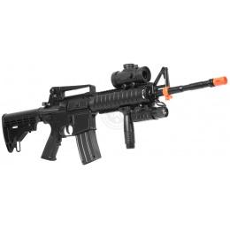 DE M4 RIS TacSpec Electric AEG Rifle w/ Flashlight and Red Dot Scope
