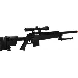 WellFire MB4406D Bolt Action Sniper Rifle w/ Folding Stock - BLACK