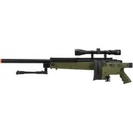 WellFire MB4406D Bolt Action Sniper Rifle w/ Folding Stock - OD