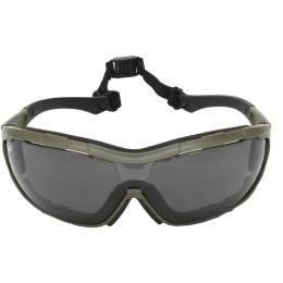 Valken Tactical Axis Tactical Goggles w/ Retention Strap - SMOKE GREEN