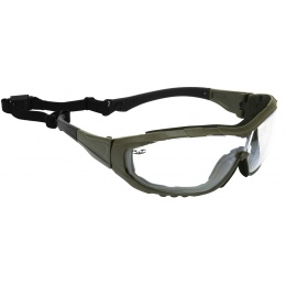 Valken Tactical Axis Tactical Goggles w/ Retention Strap - CLEAR