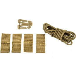 Valken Tactical Deck Retention Set for FAST/High Speed Helmets - TAN