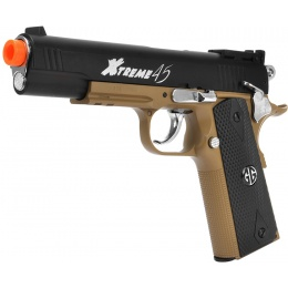 G&G Xtreme .45 DST Full Metal CO2 Airsoft Pistol - BLACK/TAN