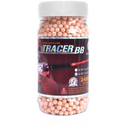 G&G Armament 0.25g Red Tracer BBs - 2,400 Count