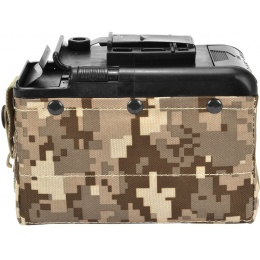 Classic Army 1200rd Electric Winding LMG Box Mag - DESERT DIGITAL