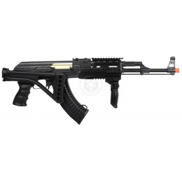 DE AK47 RIS Fully Automatic Electric AEG Rifle w/ Side Folding Stock
