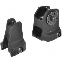 Lancer Tactical Front and A1.5 Rear Fixed Sights Combo for M4/M16 Airsoft Rifles