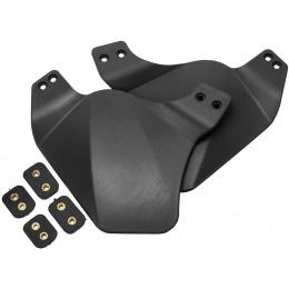 AMA Airsoft Ear Side Covers for BUMP Helmet - BLACK
