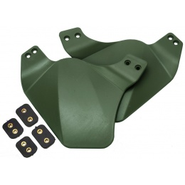 AMA Airsoft Ear Side Covers for BUMP Helmet - OD GREEN