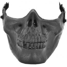 AMA Airsoft Tactical Lower Half Skeleton Face Mask - BLACK