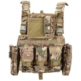 AMA 600D Lightweight Magazine Airsoft Chest Rig - LAND CAMO