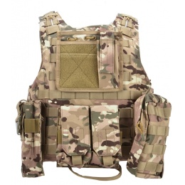 AMA MOLLE Modular Plate Carrier w/ 6 Pouches - LAND CAMO
