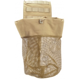 AMA Airsoft Tactical Lightweight Folding Mesh Dump Pouch - TAN