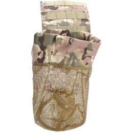 AMA Airsoft Tactical Lightweight Folding Mesh Dump Pouch - LAND CAMO