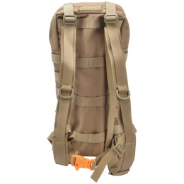 Lancer Tactical Tactical MOLLE Hydration Carrier for 2L Bladders [Nylon] - TAN