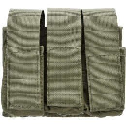 Lancer Tactical Airsoft Tactical Three Pistol Magazine Pouch - GREEN