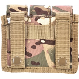 AMA Airsoft Tactical Three Pistol Magazine Pouch - LAND CAMO