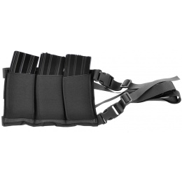 AMA Airsoft Six Magazine Tactical Hip Holder - BLACK