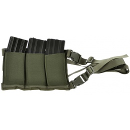 AMA Airsoft Six Magazine Tactical Hip Holder - GREEN