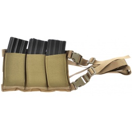 AMA Airsoft Six Magazine Tactical Hip Holder - TAN