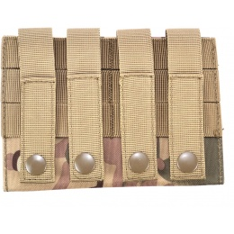 AMA 600D MOLLE Airsoft Shotgun 6-Shell Enclosed Holder - LAND CAMO