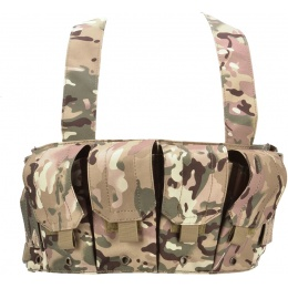 AMA 600D Rugged 6x Magazine Pouch Tactical Chest Rig -LAND CAMO