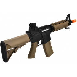 CYMA Colt M4A1 CQB-R AEG Military Service Rifle Replica - BLACK/TAN