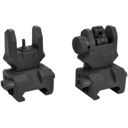 UK Arms ZAA Flip-up Rifle Sight Set (Front and Rear) - BLACK