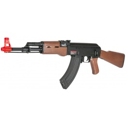 Lancer Tactical LT-16D Classic AK47 AEG w/ Full Stock - BLACK/WOOD