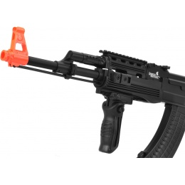 Lancer Tactical Airsoft Tactical AK-47 AEG w/ RIS and LE Stock - BLACK