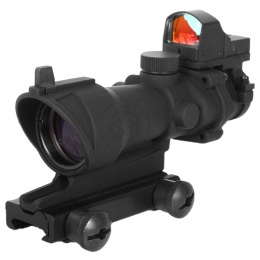 AMA 4x32 Full Metal Airsoft Zoom Scope w/ Compact Red Dot