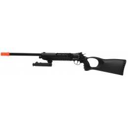 WG Herd Wolf Full Metal CO2 Revolver Rifle w/ Bipod - BLACK