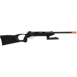 WG Herd Wolf Full Metal CO2 Revolver Rifle w/ Bipod - BLACK