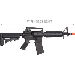 KWA Airsoft KM4A1 Full Metal CQB M4 Carbine AEG - BLACK