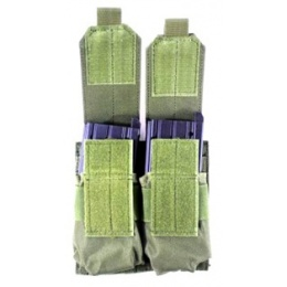 AMA 600D MOLLE Double Rifle Airsoft Magazine Pouch - OD GREEN