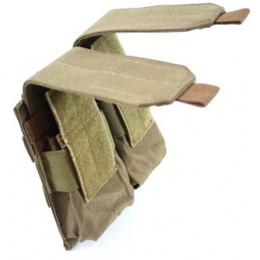 AMA MOLLE 600D Double Rifle Airsoft Magazine Pouch - COYOTE TAN
