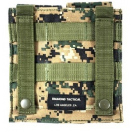 AMA MOLLE Double M4 Airsoft Magazine Pouch - Digital Woodland