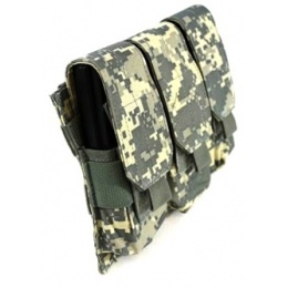 AMA Tactical MOLLE Triple Airsoft Rifle Magazine Pouch - ACU