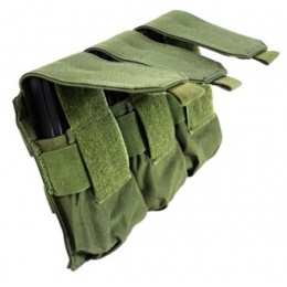 AMA 600D MOLLE Triple Rifle Airsoft Magazine Pouch - OD GREEN
