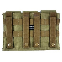 AMA MOLLE 600D Triple Rifle Airsoft Magazine Pouch - COYOTE TAN