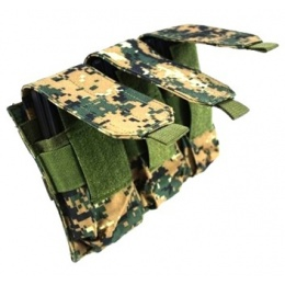 AMA MOLLE Triple M4 Magazine Airsoft Pouch - Digital Woodland