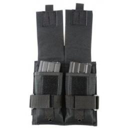 AMA Double M4 Airsoft Magazine Drop Leg Pouch - BLACK