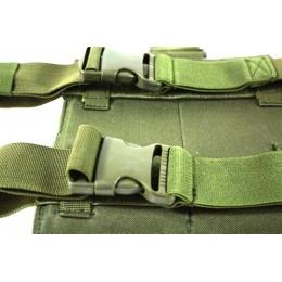 AMA Double M4 Airsoft Magazine Drop Leg Pouch - OD GREEN