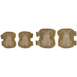 Airsoft Tactical Quick Release Knee and Elbow Pad Set - TAN