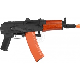 CYMA Full Metal AK-74UN Airsoft AEG Rifle - REAL WOOD