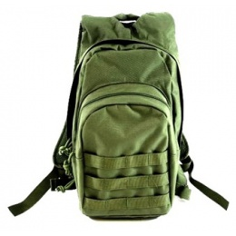 AMA MOLLE Alpha-7 Hydration Pack w/ Bladder - OD GREEN