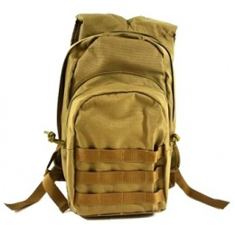 AMA MOLLE Alpha-7 Hydration Pack w/ Bladder - COYOTE TAN