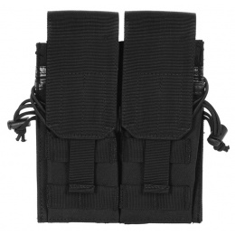 AMA 600D MOLLE M4/M16/AK Double Rifle Mag Pouch - BLACK